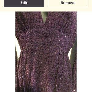 Vintage Dresses - Vintage Purple Ballon Mini Dress
